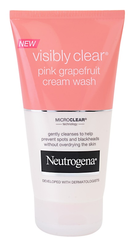 Neutrogena -  NEUTROGENA® Visibly Clear® Pink Grapefruit Cream Wash – kremowy żel do mycia twarzy
