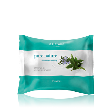 Oriflame -  Pure Nature Tea Tree & Rosemary Purifying Cleansing Wipes